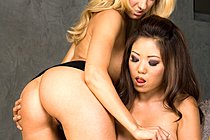 Kaiya Lynn And Blonde Lesbian Girlfriend Masturbate Together