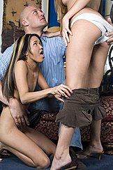 Kitty Kneeling Pulling Skirt Off